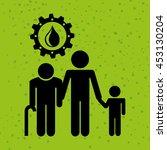 ecological family design ...   Shutterstock .eps vector #453130204