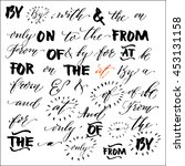 collection of hand drawn... | Shutterstock .eps vector #453131158