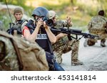 photojournalist documenting war ... | Shutterstock . vector #453141814