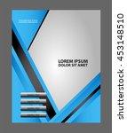 presentation of flyer design... | Shutterstock .eps vector #453148510