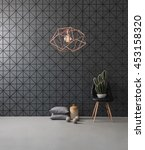 black textured wall and modern... | Shutterstock . vector #453158320