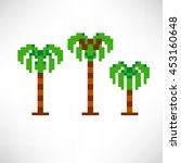 palm trees abstract isolated on ...   Shutterstock .eps vector #453160648