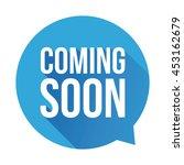 coming soon label vector blue... | Shutterstock .eps vector #453162679