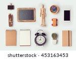 Designer desk objects mock up...