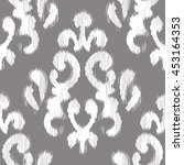 ikat damask pattern seamless... | Shutterstock .eps vector #453164353