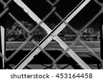 outdoor chain link fence with... | Shutterstock . vector #453164458