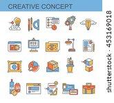 icons creative concept | Shutterstock .eps vector #453169018