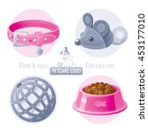 Pet Care Vector Icon Set On...