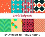 set of colorful backgrounds.... | Shutterstock .eps vector #453178843