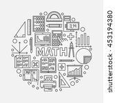 math round line illustration.... | Shutterstock .eps vector #453194380