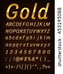 gold letter  | Shutterstock .eps vector #453195088