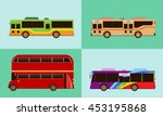 tour bus | Shutterstock .eps vector #453195868