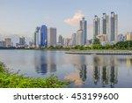 city park in bangkok  thailand  ... | Shutterstock . vector #453199600