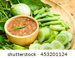 sauce of shrimp paste and chili ... | Shutterstock . vector #453201124