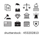 set of black and white law and... | Shutterstock . vector #453202813