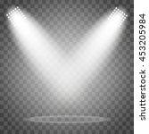 vector spotlights. scene. light ... | Shutterstock .eps vector #453205984