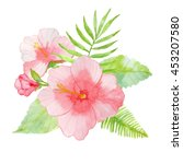 watercolor a bouquet of... | Shutterstock . vector #453207580