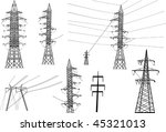 illustration with electric... | Shutterstock .eps vector #45321013