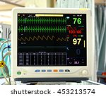 Stock photo vital signs monitor in hospital 453213574