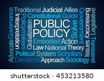 public policy word cloud on... | Shutterstock . vector #453213580