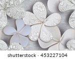 3d floral art | Shutterstock . vector #453227104