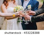 celebration. people holding... | Shutterstock . vector #453228388