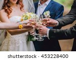 celebration. people holding... | Shutterstock . vector #453228400