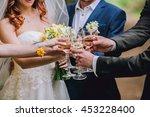 celebration. people holding... | Shutterstock . vector #453228400