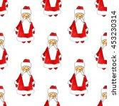 christmas pattern on white... | Shutterstock . vector #453230314