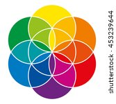 rainbow colored seed of life... | Shutterstock .eps vector #453239644