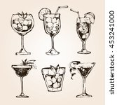 cocktail set. elements for the... | Shutterstock .eps vector #453241000