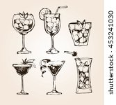 cocktail set. elements for the... | Shutterstock .eps vector #453241030