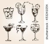cocktail set. elements for the... | Shutterstock .eps vector #453241054