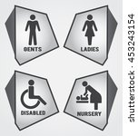 modern toilet set icon with... | Shutterstock .eps vector #453243154