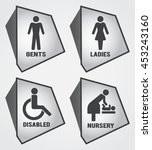 modern toilet set icon with... | Shutterstock .eps vector #453243160