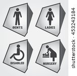 modern toilet set icon with... | Shutterstock .eps vector #453243184