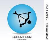 web line icon. cupid's arrow. | Shutterstock .eps vector #453251140