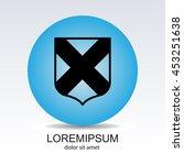 web line icon. shield. | Shutterstock .eps vector #453251638