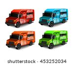 set of illustrations burgers... | Shutterstock .eps vector #453252034
