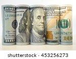 Roll Dollar Banknotes. Dollar...