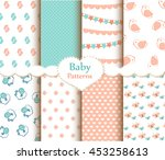 baby patterns set | Shutterstock .eps vector #453258613
