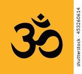 om symbol of hinduism vector... | Shutterstock .eps vector #453260614
