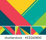 vector abstract background with ... | Shutterstock .eps vector #453260800