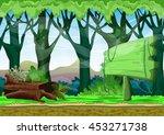 cartoon vector landscape with... | Shutterstock .eps vector #453271738