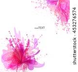 fantasy watercolor vector... | Shutterstock .eps vector #453276574