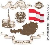 vector of vintage austrian set... | Shutterstock .eps vector #453287710