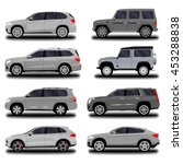 realistic car. suv set   Shutterstock .eps vector #453288838
