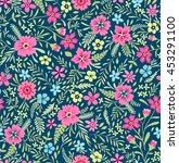 seamless cute floral pattern.... | Shutterstock .eps vector #453291100