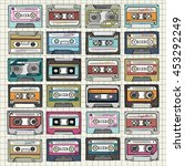 music cassette | Shutterstock . vector #453292249