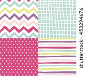set of abstract seamless...   Shutterstock .eps vector #453294676